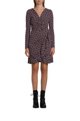 MICHAEL Michael Kors Stretch-jersey Midi Dress With Geometric Pattern