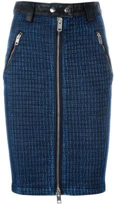 Diesel front zip denim skirt $368.09 thestylecure.com