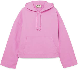 Acne Studios - Joggy Printed Cotton-jersey Hooded Top - Pink