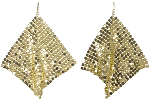 Mirrored Mesh Earrings