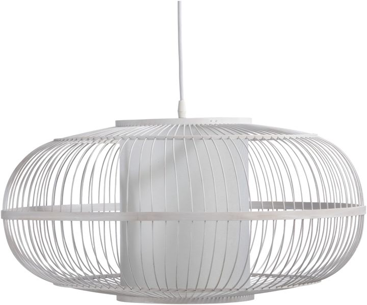 White Wash Bamboo Pendant Lamp