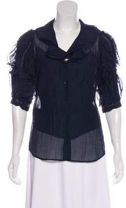 Ralph Lauren Ruffled Short Sleeve Blouse