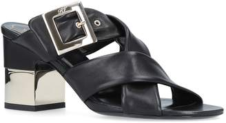 Roger Vivier Leather Buckle Mules 40