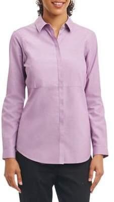 Foxcroft Classic Cotton Button-Down Shirt