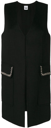 Twin-Set stud embellished tailored waistcoat $338.20 thestylecure.com