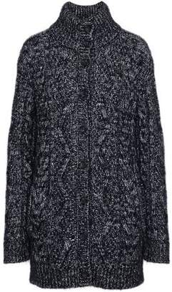 RED Valentino Marled Cable-knit Cardigan