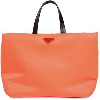 Prada Puffer Nylon Tote Bag