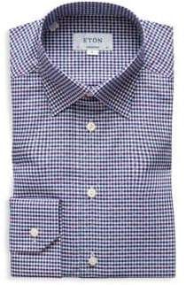Eton Contemporary Fit Gingham Dobby Shirt