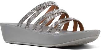 1821742f1 Next Womens FitFlop Silver Linny Slide Crystal Pave Sandal