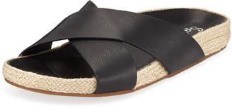 Splendid Sybil Leather Crisscross Slide Sandals