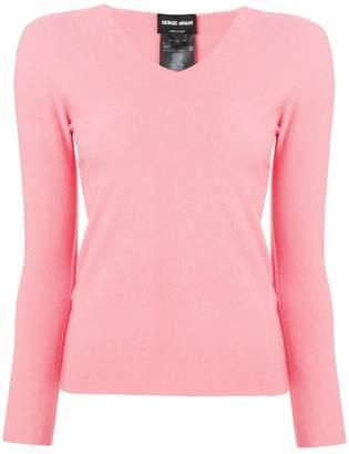 Giorgio Armani long-sleeve fitted sweater