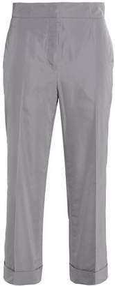 Jil Sander Cropped Taffeta Straight-Leg Pants