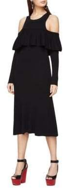 BCBGMAXAZRIA Cold-Shoulder Sweater Dress