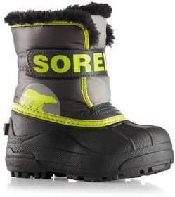 Sorel Baby's, Toddler's& Kid's Snow Commander Faux Fur-Trim Snow Boots
