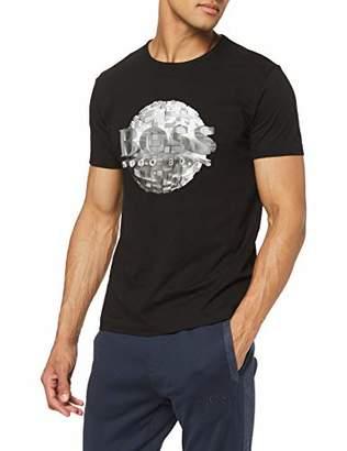 ad2568a13 BOSS Men's Tee 4 T-Shirt, (Black 001), Large