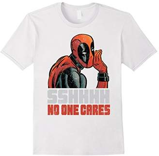 Marvel Deadpool SSHHHH No One Cares Whisper Graphic T-Shirt