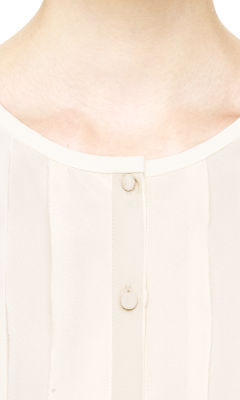 Club Monaco Yenna Ruffle Detail Silk Top
