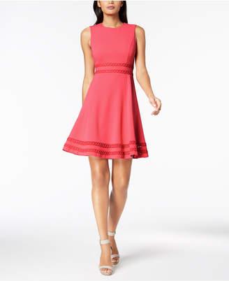 Calvin Klein Corded-Trim Fit & Flare Dress, Regular & Petite