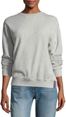 Kule Raleigh Crewneck Long-Sleeve Cotton Sweatshirt