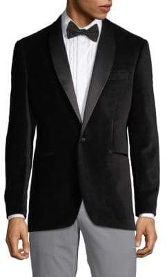 Saks Fifth Avenue Shawl Lapel Velvet Dinner Jacket