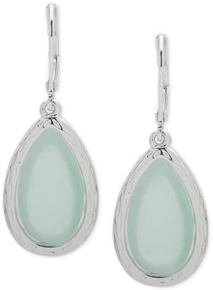 Nine West Silver-Tone Colored Stone Drop Earrings