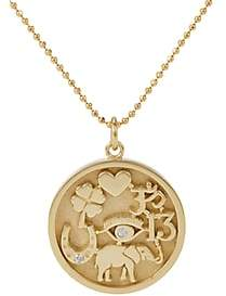 Jennifer Meyer Women's Good Luck Charm Pendant Necklace-Gold