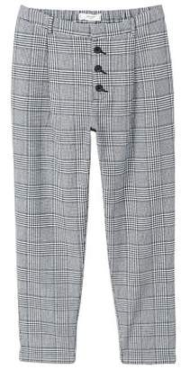 MANGO Prince of Wales suit trousers