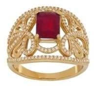 Lord & Taylor Ruby, Diamond & 14K Yellow Gold Ring