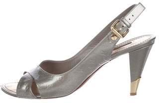Louis Vuitton Monogram Patent Leather Sandals