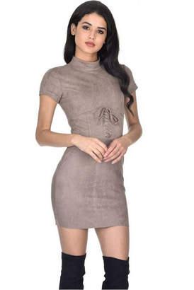 AX Paris Faux Suede Mini Dress