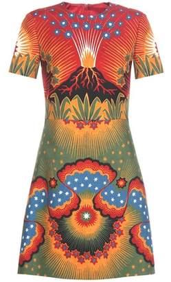 Valentino Printed wool and silk dress