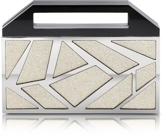 Avril 8790 Two Faces Ruthenium Plated Brass and Golden Viscose Clutch