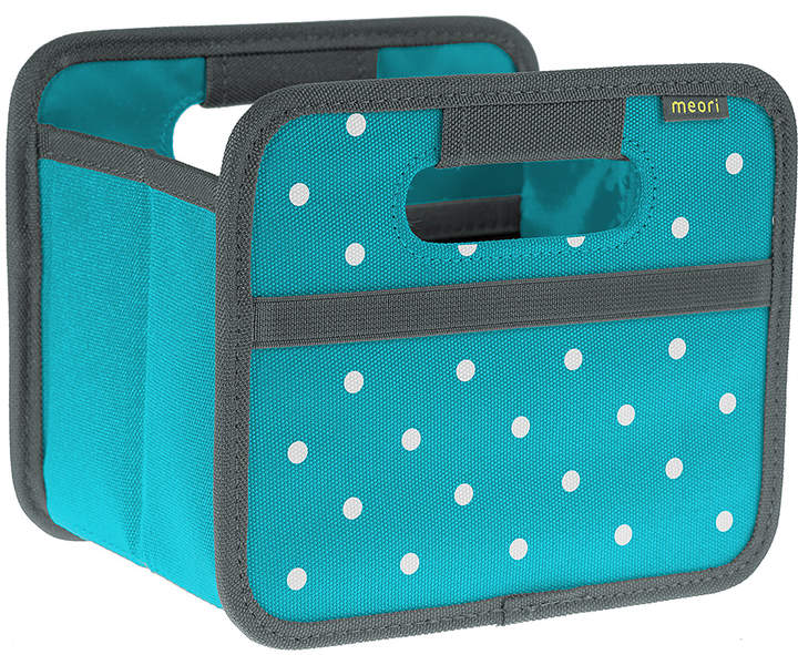 Azure Blue Polka Dots Folding Mini Storage Box