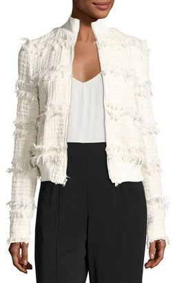 A.L.C. Judd Frayed Boucle Jacket, Neutral $595 thestylecure.com