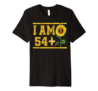 Funny 55th Birthday Gift I Am 54 Plus 1 Sunflower Floral Premium T-Shirt