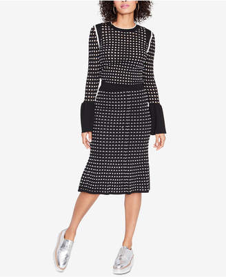 Rachel Roy Bell-Sleeve Eyelet Sweater, Created for Macy's
