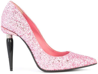 Oscar de la Renta heeled glitter pumps
