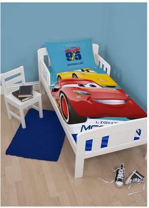 Disney CARS 3 LIGHTNING Toddler Bed Duvet Cover Set
