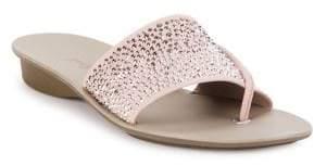 Paul Green Pixie Rhinestone Leather Sandals