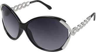 ROCAWEAR Rocawear Chainlink Vented Round Sunglasses $28 thestylecure.com
