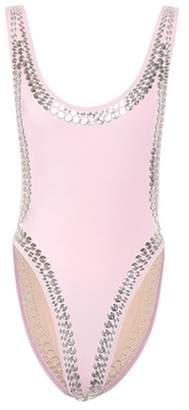Norma Kamali Stud Marissa embellished swimsuit