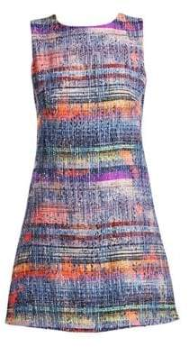 Emporio Armani Multicolor Sleeveless Tweed Dress