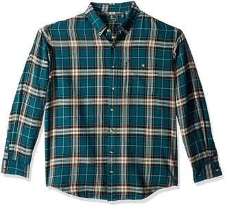 G.H. Bass & Co. Men's Big Fireside Flannel Plaid Long Sleeve Shirt