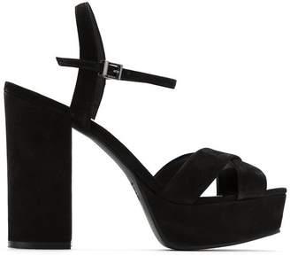 Schutz nubuck leather platform sandals