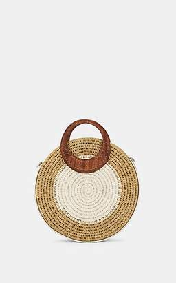 Khokho Women's Letta Circle Straw Tote Bag - White