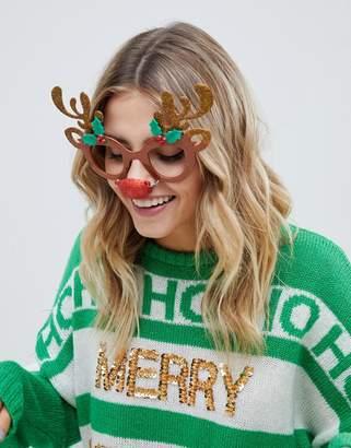 Fizz Creations Fizz Holidays reindeer novelty glasses