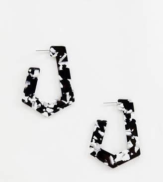 Liars & Lovers black & white resin earrings