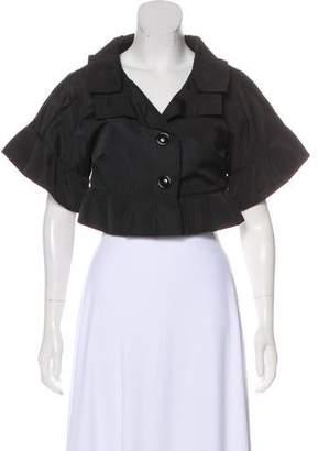 Dolce & Gabbana Satin Short Sleeve Bolero