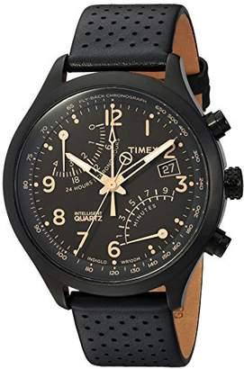 Timex Men's TW2R54900 Intelligent Quartz Fly-Back Chronograph Leather Strap Watch