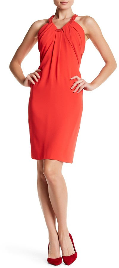 Carmen Marc Valvo Carmen Marc Valvo Halter Sleeveless Dress